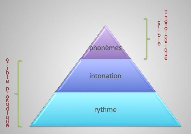 Les 3 cribles entrant dans la composition du crible phonique d'une langue