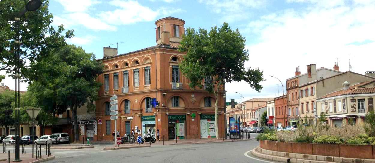 Place de la Patte d'Oie, rive gauche, Toulouse