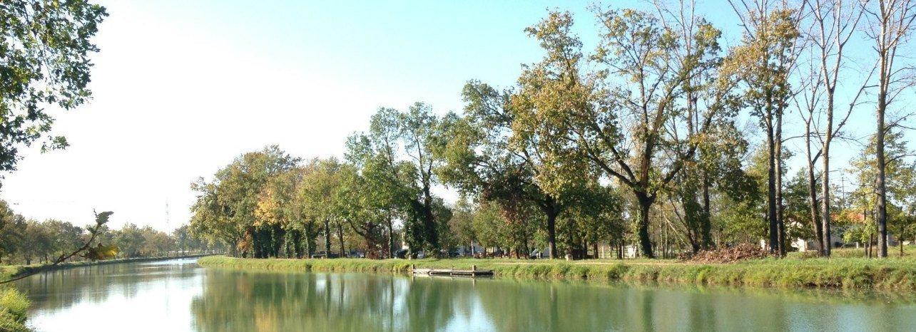 En automne à Montauban, au bord du Canal