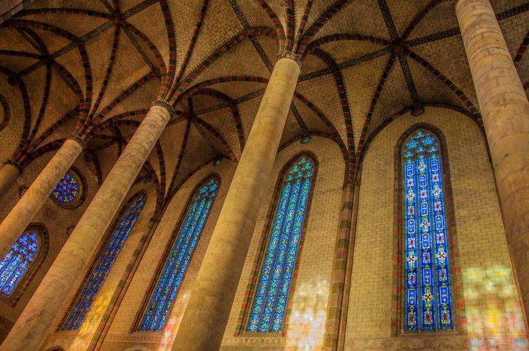 Détail de la voûte du cloître des Jacobins Toulouse