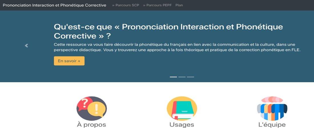 Prononciation Interaction et Phonétique Corrective est en ligne - Au son du fle