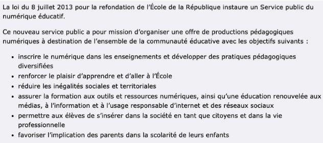 La loi sur la refondation de l'école du 08:08:2013