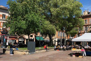Une vue de la place Saint-Georges à Toulouse