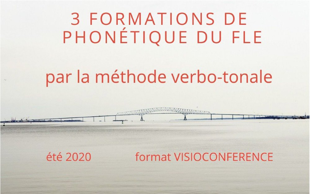 Maintien des formations en verbo-tonale pour l'été 2020 — Au son du fle - Michel Billières
